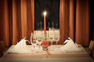 Dinner Tisch mit Kerze
